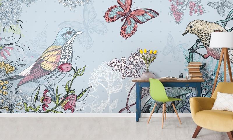 Papier peint sur mesure LGD01 Collection MultiLés / Panoramique 6 lés / FAUNE & FLORE