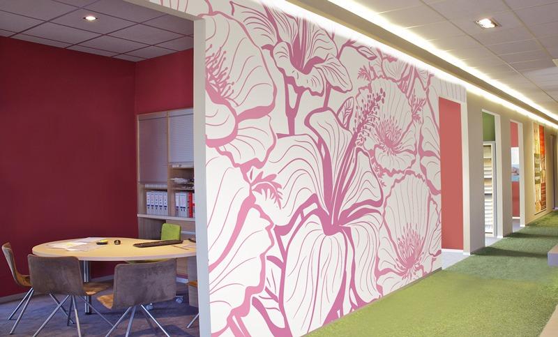 Papier peint sur mesure LGD01 Collection Multilés / Panoramique 6 lés / FLORAL
