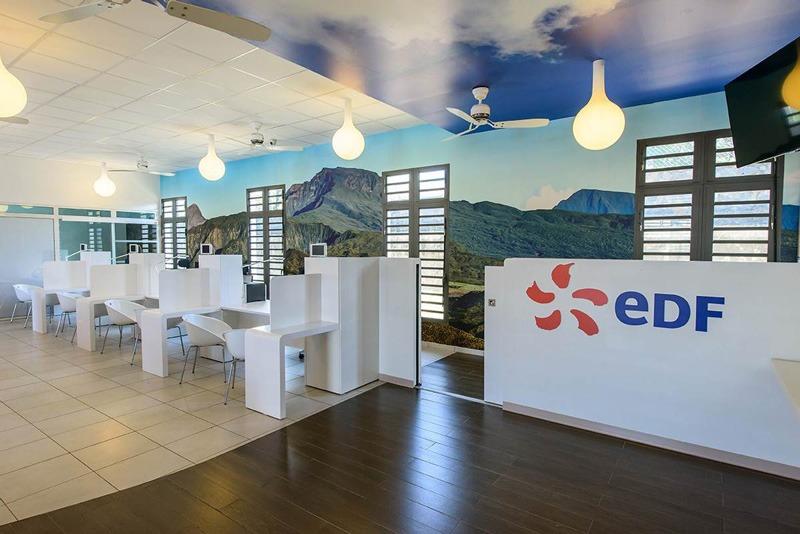 Papier peint sur mesure LGD01 IDM / Agence EDF la Réunion