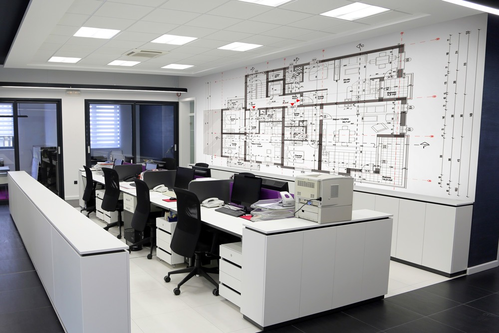 Tailor made wallpapers for your professional offices