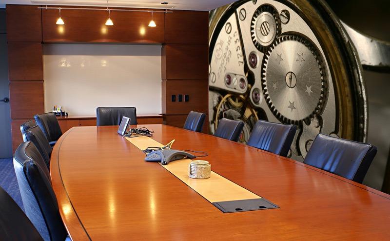 Papier peint sur mesure LGD01 Salle Réunion fabriquant de montre Suisse
