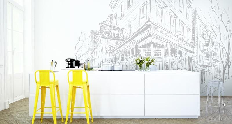 Papier peint sur mesure LGD01 Collection MultiLés / Panoramique 4 lés / CAFEstreet