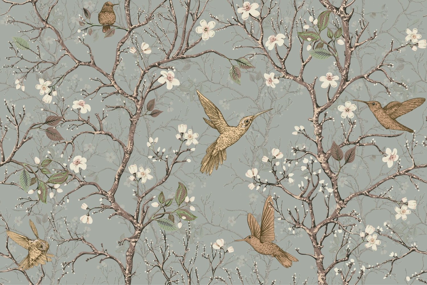 Collection de papier peint Multilés COLIBRIS – Réf. CB9124 par LGD01