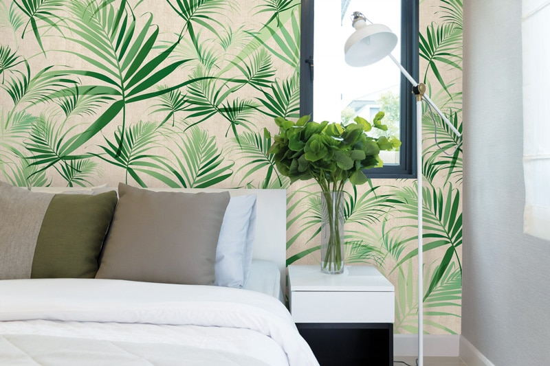 Papier peint sur mesure LGD01 Collection Ambiance LIN / TROPIC
