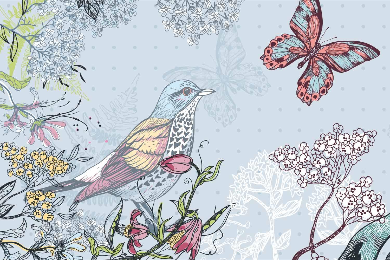 Collection de papier peint Multilés FAUNE&FLORE – Réf. FR3204 par LGD01