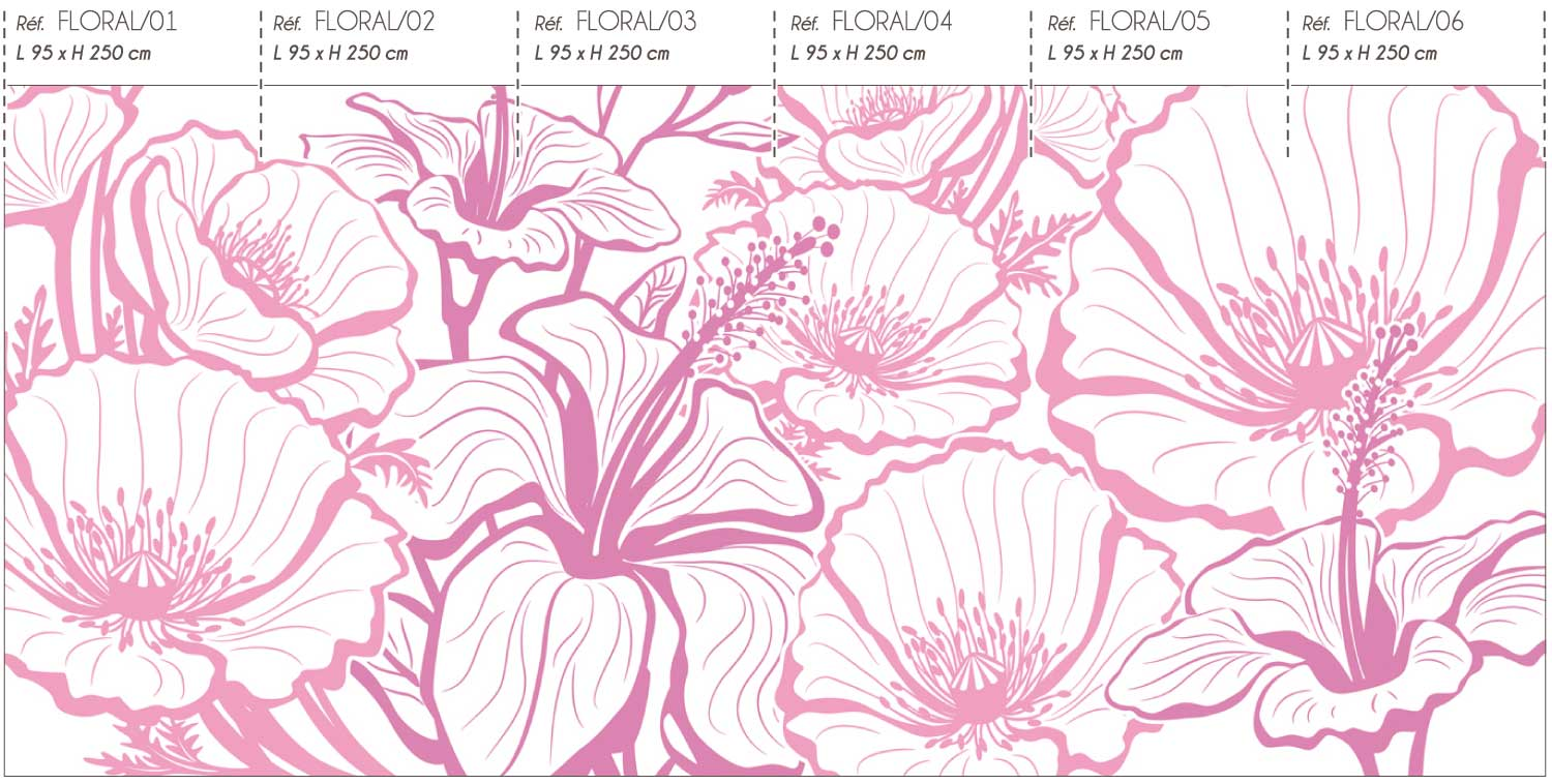 Collection de papier peint Multilés FLORAL par LGD01
