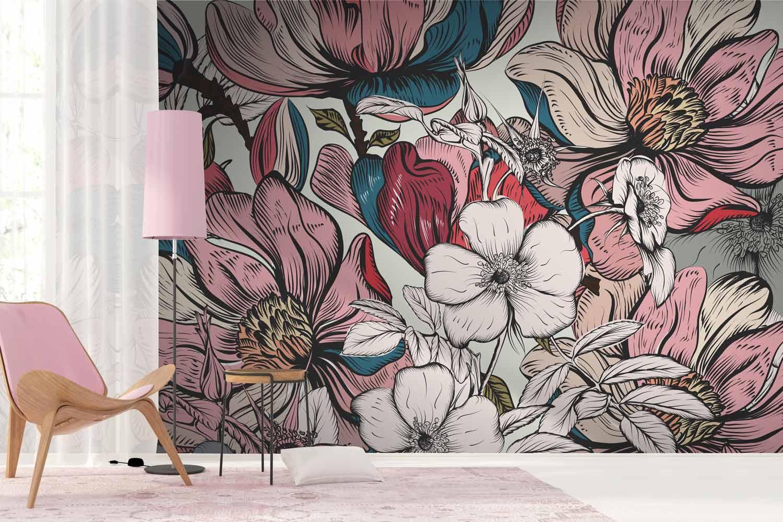 Collection de papier peint Multilés FLORALY – Réf. FY0687 par LGD01
