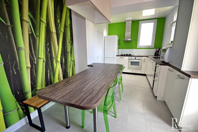 Papier peint sur mesure LGD01 agence R déco actuel / Cuisine bambou