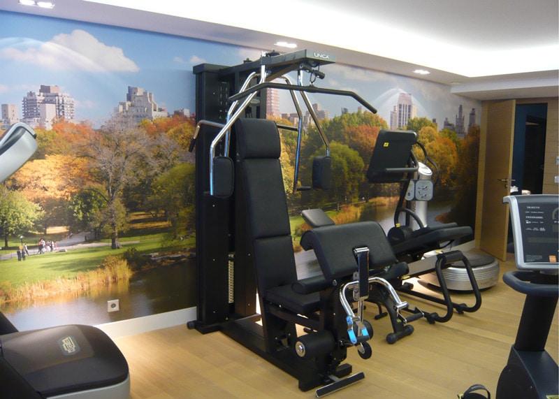 Papier peint sur mesure LGD01 Salle de fitness privé
