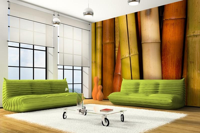 Papier peint sur mesure LGD01 Salon style bambou