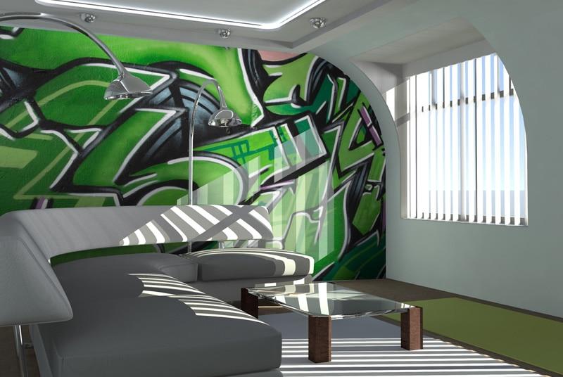 Papier peint sur mesure LGD01 Salon décoration urbaine