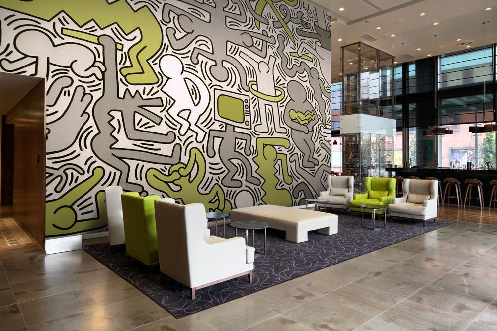Papier peint sur mesure LGD01 Hall hôtel bar
