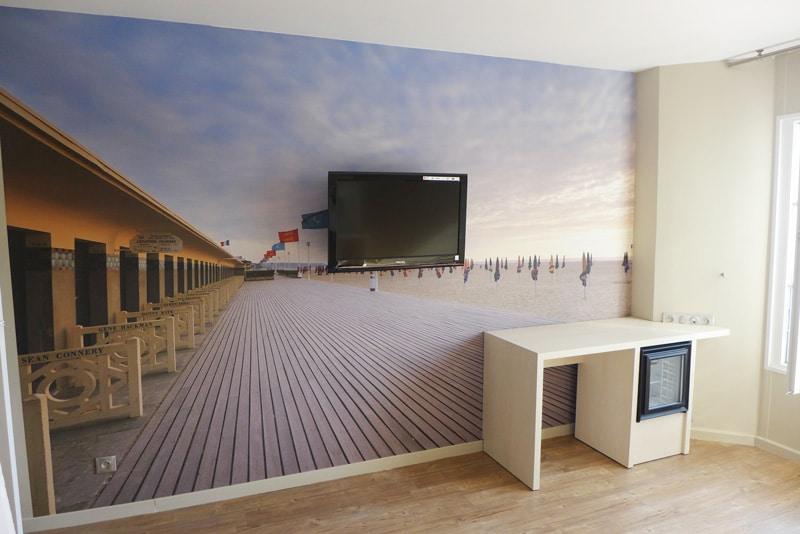 Papier peint sur mesure LGD01 Mediterra design / Beach Hotel / Trouville
