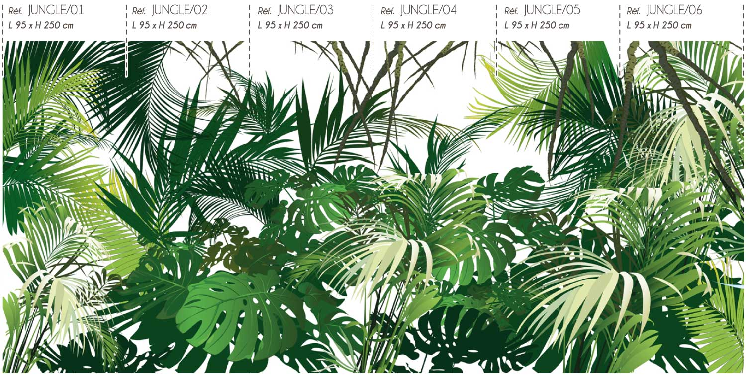 Collection de papier peint Multilés JUNGLE par LGD01