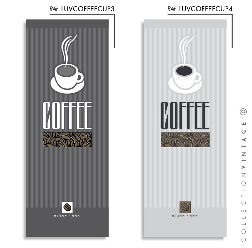 Collection de papier peint Multilés VINTAGE – LUVCOFFEECUP par LGD01