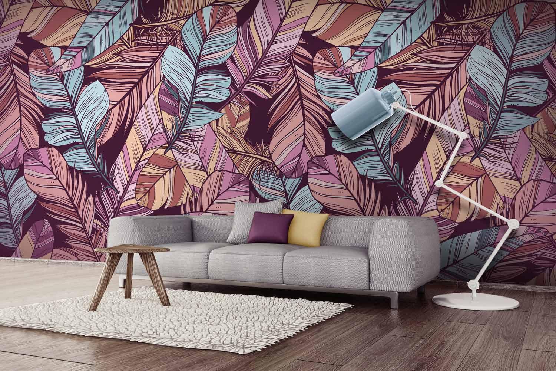 Collection de papier peint Multilés PLUME – Réf. PL4817 par LGD01