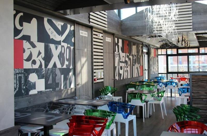 Papier peint sur mesure LGD01 Agence Aquadéco / Restaurant la Tribune