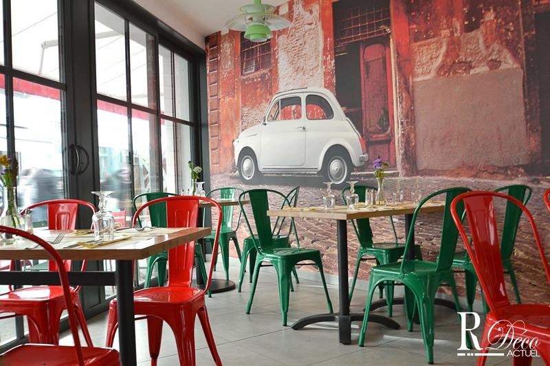 Papier peint sur mesure LGD01 R-déco-Actuel / Restaurant ile-de-Ré