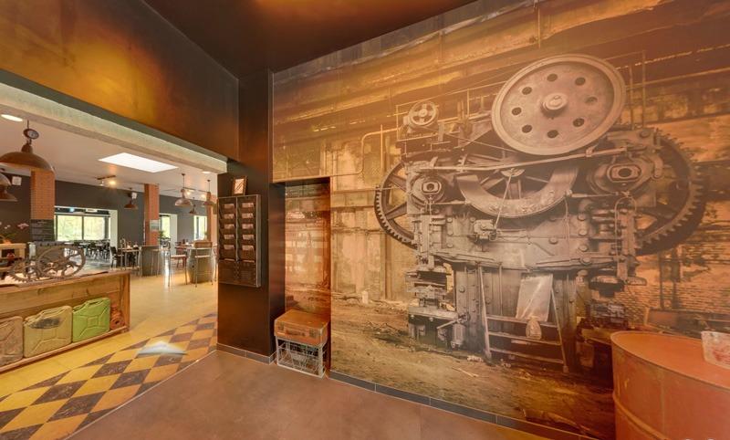 Papier peint sur mesure LGD01 Agence ROUGE / restaurant L