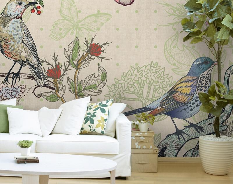 Papier peint sur mesure LGD01 Collection Ambiance LIN / FAUNE & FLORE lin