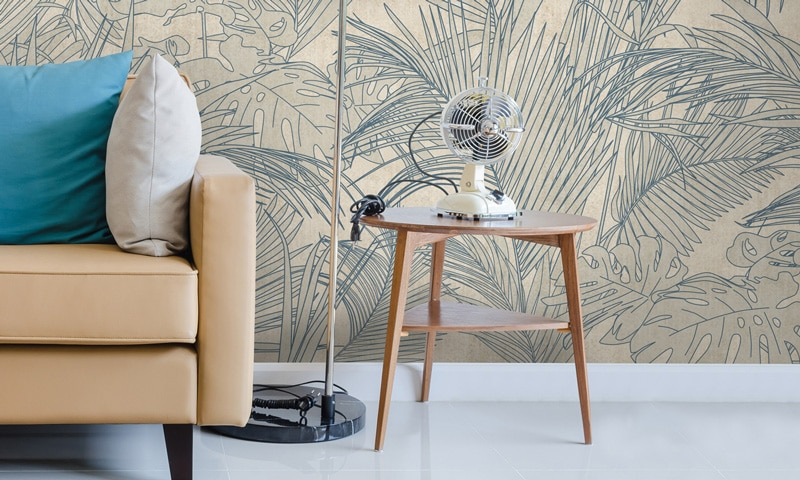 Papier peint sur mesure LGD01 Collection Ambiance LIN / PALM