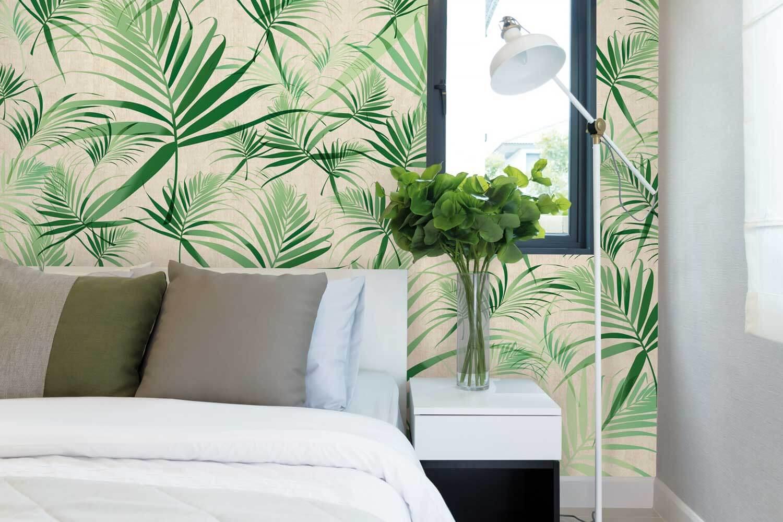 Papier peint 100 lin naturel pour une d co saine et for Accessoire deco chambre
